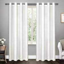 Criss Cross Curtains Criss Cross Winter White Eyelash Chenille Grommet Top Window