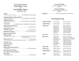 wedding program format wedding program template in word and pdf formats
