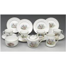 beatrix potter tea set a large rabbit tea set collab wgrimwades ltd set of 15 by