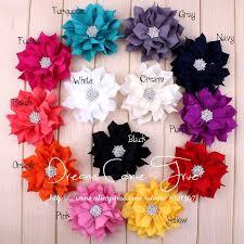 flowers for headbands 50pcs lot 3 13colors vintage artificial fabric lotus flower for