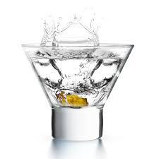 amazon com kook stemless martini cocktail glass 8 ounces set