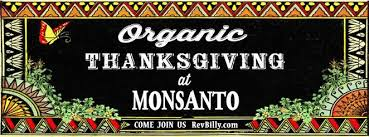 reverend billy invites you to an organic thanksgiving dinner at