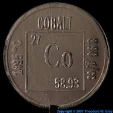 element coin a sample of the element cobalt in the periodic table