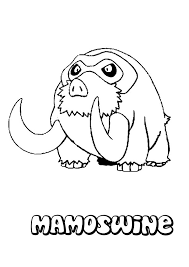 mamoswine coloring pages hellokids com