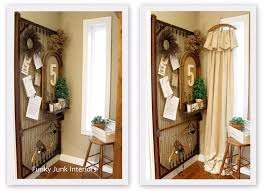 Funky Door Curtains by Vintage Hanger Crop Cloth Curtains Funky Junk Interiorsfunky