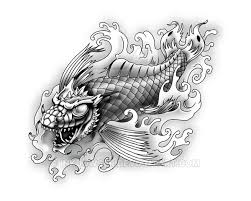 dragon koi by inkdowser on deviantart