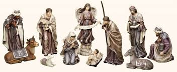 nativity sets eleven christmas nativity set plum tones 12 h from catholic