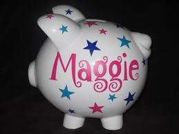 Monogrammed Piggy Bank 21 Best Personalized Banks Images On Pinterest Piggy Banks