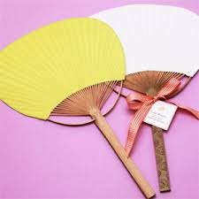 fan favors color paddle fan set of 10 palm and bamboo fans wedding