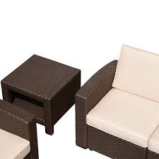 Wicker Style Outdoor Furniture by Aosom Outsunny Rattan Style Resin Wicker Outdoor End Table