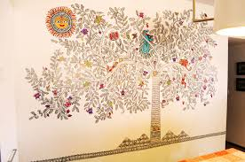 madhubani wall mural surat gujarat craftcanvas wall art madhubani wall mural surat gujarat craftcanvas
