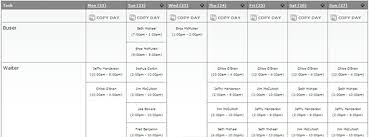 scheduling employees with bar graphs excel view plain text and