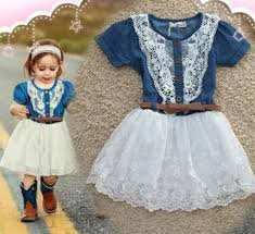 new style denim dress for western style