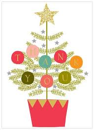 christmas thank you cards pack of 8 christmas tree christmas thank you cards karenza paperie