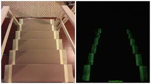 this glow in the dark stairway hack might save your life lifehack