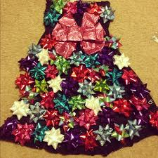 tacky bow dress instead of a ugly christmas sweater great party