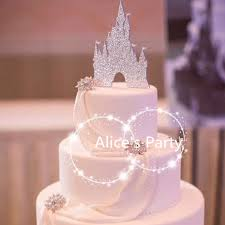 castle wedding cake silver paper castles wedding cake toppers party decorations