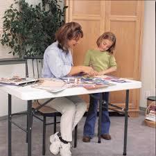 Uniform Lifetime Table by 4 Ft Commercial Plastic Folding Utility Table White Granite