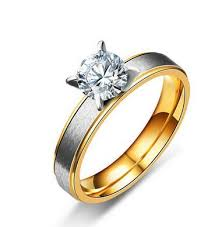 wedding ring japan japan and south korea style gold color zirconia ring