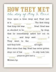 bridal mad libs create a spectacular nostalgic wedding childhood memory themes