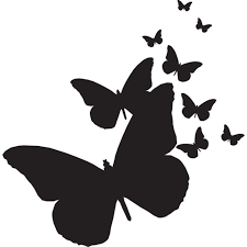 33 best butterfly silhouette images on