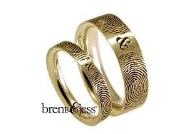 fingerprint wedding bands and wedding bands brent and jess jewelry