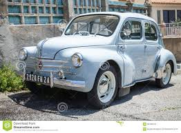 vintage renault cars renault 4cv light blue old timer economy car editorial stock image