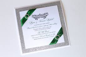 green wedding invitations embellished paperie gorgeous emerald green and silver