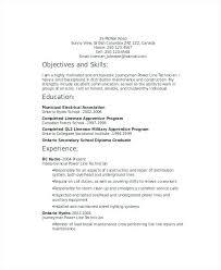 sample resume electrician apprentice best example u2013 inssite