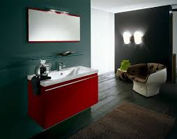 Red Bathroom Cabinets Raleigh Red Bathroom Vanity Eclectic With Gray Tile Floor Home