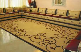 arabic moroccan sofa brown and red sectional living room 127