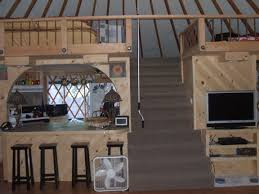Living In A Yurt by Yurt With A Loft Above Kitchen How Cool Yurt Straw Bale