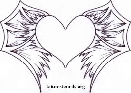 Hearts With Wings - draw a with wings by tattoos pop culture tribal how