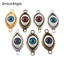 bracelet charms diy images 6pieces mix 3d god eye evil eyes diy bracelet charms connector jpg