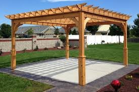 Steel Pergola Kits by Cedar Pergola Kits With And Without Canopies All Sizes Many