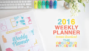 printable planner pages for 2015 2016 weekly planner the organised housewife