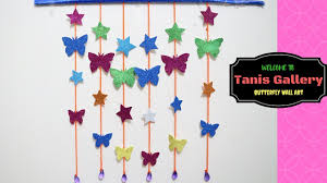 Room Decorating Ideas With Paper Diy Butterfly And Star Wall Room Decor Paper Craft Ideas For