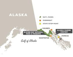 Alaska Inside Passage Map by Glacier Bay And The Inside Passage Off The Beaten Path