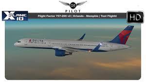 x plane flight factor boeing 757 200 v2 orlando to memphis