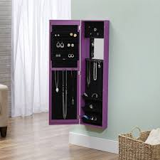 Jewelry Armoire With Lock And Key Innerspace Over The Door Wall Hang Mirrored Jewelry Armoire