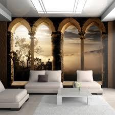 Schlafzimmer Romantisch Dekorieren Modernes Schlafzimmer Wand Dekorieren Tapete Braun Creme Tropfen