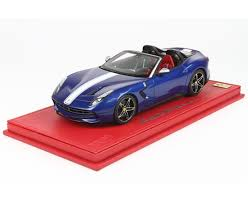 Ferrari 458 Light Blue - f60 america limited 250 pcs with display case by bbr