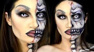halloween drag queen cara esqueleto maquillaje half skull face