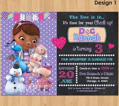 Doc Mcstuffins Home Decor Doc Mcstuffin Invitation Doc Mcstuffins Birthday Invitation