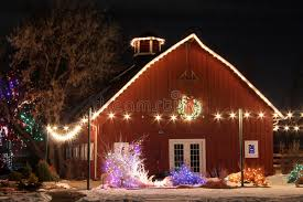 trail of lights denver christmas on the farm stock photo image of xmas winter 31699062