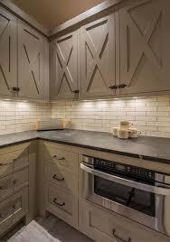Barn Door Style Kitchen Cabinets | ski lodge blending rustic modern details in martis c barn doors