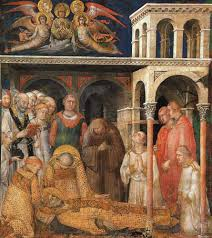 simone martini artist sightswithin com morte di san martino the death of saint martin