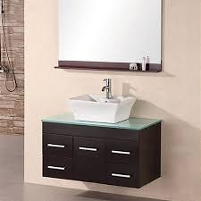 shop design element madrid espresso single vessel sink bathroom
