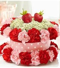 flower cake fresh flower cake strawber philadelphia pa florist