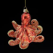 glass octopus ornament kris kringl where it s all